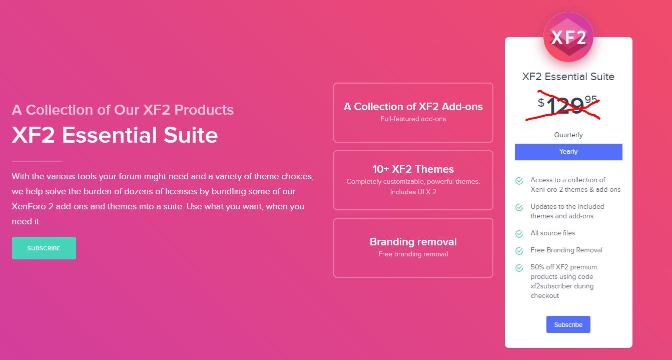 [Xenforo] Коллекция продуктов XF2 XF2 Essential Suite