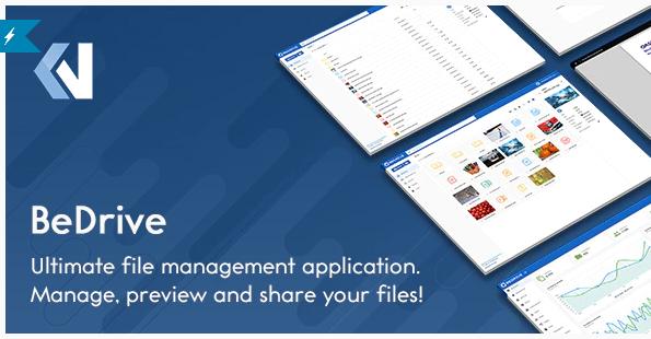 BeDrive v2.2.2 - хостинг файлов и облачное хранилище