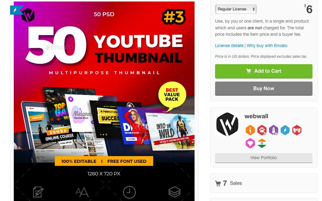 50 потрясающего качества YouTube Thumbnail template psds (50 дизайнов, 1280×720px).