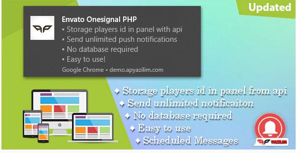 OneSignal v1.5 - PHP Push Notification Pane