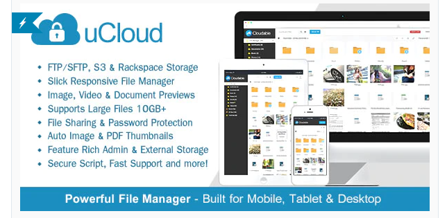 uCloud - File Hosting Script - Securely Manage, Preview & Share Your Files [v2.0.2]
