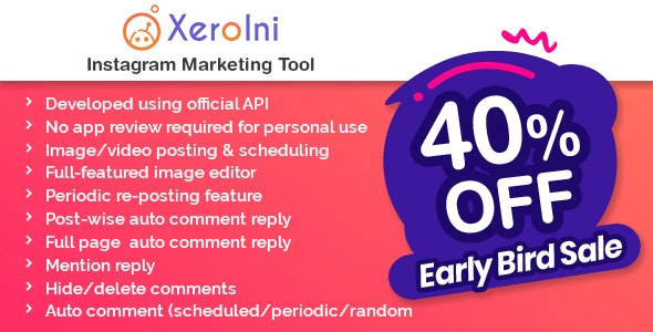 [PHP] XeroIni - планировщик Instagram постов и маркетинговый инструмент [xeroneitbd]