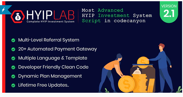 HYIPLAB v2.1 - Complete HYIP Investment System - nulled