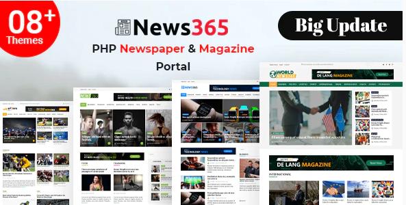 News365 v7 - PHP Newspaper Script Magazine Blog with Video Newspaper