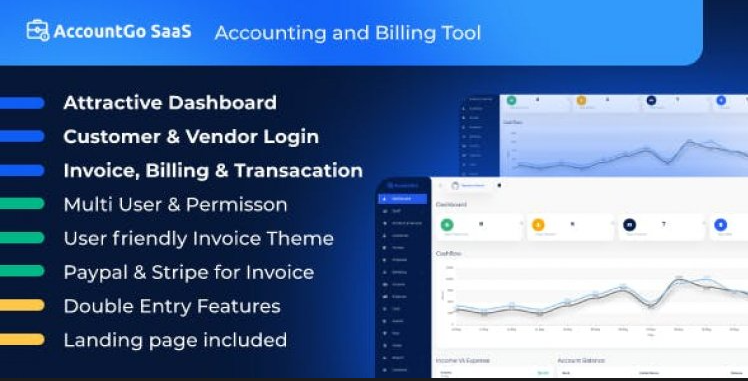 AccountGo SaaS v3.3.0 - Accounting and Billing Tool